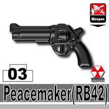 Peacemaker (W174) Pistol Revolver compatible w/ toy brick minifigure Army Police