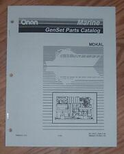 ONAN MDKAL SPECS A-B MARINE GENSETS PARTS LIST MANUAL 981-0261C