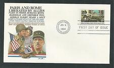 # 2838-f WWII:1944 PARIS & ROME LIBERATED 1994 Fleetwood First Day Cover