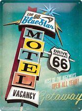 Blechschild 30 x 40, The 66 Blue Star Motel, Werbeschild Art. 23186