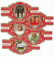 5 cigar bands Brakman Cyclists iss in 1971