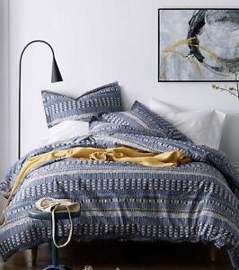 New The Company Store Winding Stripe Print Full Duvet Cover Set 3pc