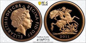 2011 £5 Five Pound Gold Proof Sovereign PCGS PR70 St George & Dragon