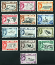 ASCENSION 1956 SG 57-69 SC 62-74 OG  MLH * RARE COMPLETE SET 13 STAMP