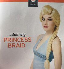 Adult blonde princess braid wig Halloween Costume dress up