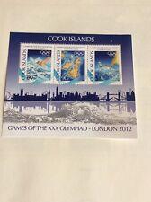 Juegos Olímpicos de Londres 2012 Islas Cook Hoja de natación Vela En Miniatura