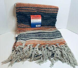 "Authentic Falsa Blanket Mexican Soft Yoga Mat 50""x 80"" Durable Versatile NEW"