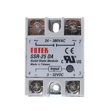 SSR-40DA SSR-25DA SSR-100DA 100A/40A/25A 250V Solid State Relay Module Heat Sink