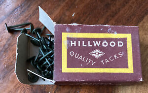 VTG 1930s Cleveland Hillwood Quality Tacks 100 PCs Type IW-10 Wiring Nails Green