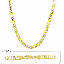 "54.50gm 14k Solid Gold Yellow Men's Mariner Concave Chain 22"" 8.10mm Necklace"