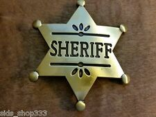 ♈ Old West Sheriff Belt Buckle  ♈ Antique Bronze finish Great gift.Western