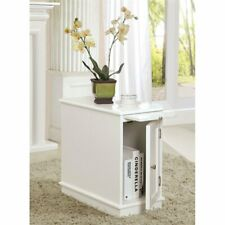 Furniture of America Felix End Table with Tray in White