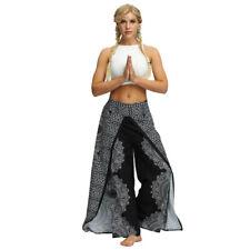 Womens Boho Trousers Harem Pants Baggy Wrap Over Genie Summer Leggings Casual UK