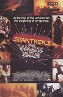 STAR TREK II WRATH OF KHAN ~ 22x34 VINTAGE MOVIE POSTER William Shatner Nimoy