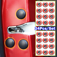 24Pcs Car Door Lock Screws Protector Universal Cover Anti-Rust Caps Trim Sticker