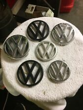 6 VW VOLKSWAGEN GRILL BADGES GOLF POLO T4 JETTA PASSAT GOOD FOR A MN CAVE DISP