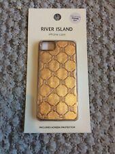 Bnib River Island Iphone 6/7 Phone Case. Leather Look Rose Gold.