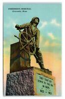 Postcard Fisherman's Memorial, Gloucester MA I4