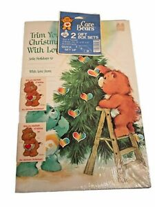 NIP Factory Sealed Vintage CARE BEARS Christmas 2 Gift Box Sets & Cards 1980s