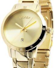 Damen Armbanduhr Golden Edelstahlarmband Datum DUA05875 von gooix 149,00 UVP