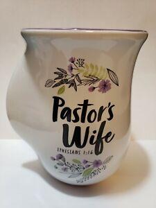 Hand Warmer Scripture Coffee/Tea Mug EPHESIANS 1:16 Pastor's Wife Cup