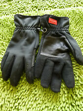 Snowlife Men's Black Winter Gloves Soft Shell Gore Windstopper Fleece Lined Sz S