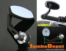 Silver Motorcycle Handle Bar End Rear View Mirror For 7/8''Yamaha V-max FZ1 FZ6