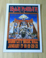 IRON MAIDEN : WORLD SLAVERY TOUR RADIO CITY : A4 GLOSSY REPRODUCTION POSTER