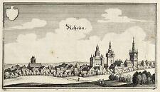 RHEDA-WIEDENBRÜCK - GESAMTANSICHT - Matthäus Merian d.Ä. - Kupferstich 1647