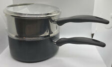 T-fal B1399663 Specialty Stainless Steel Double Boiler with Phenolic Handle C...