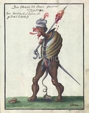 Demon Devil Ogre Monster Fantasy Horror Ghoul Sword 1766 7x5 Inch Reprint Print