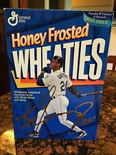 KEN GRIFFY JR  GENERAL MILLS HONEY FROSTED WHEATIES CEREAL BOX COLLECTORS EDITIO