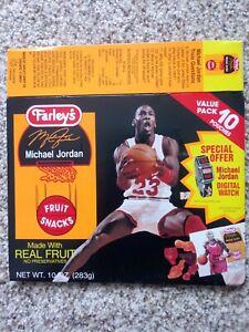 Michael Jordan Chicago Bulls Farley's Fruit Snacks Box