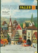 Faller Modellbau Gesamt-Katalog 1978/79 Landschaft Zubehör Eisenbahn Fotos