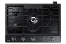 """NEW Samsung 36"""" Gas 5 Burner Cooktop w/Griddle Black Stainless Steel NA36K6550TG"""
