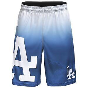 Los Angeles Dodgers MLB Gradient Blue/White Big Logo Training Shorts FREE SHIP