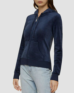NWT JUICY COUTURE 'Regal Track Jacket Velour Robertson Gold Charm Pull' SZ S emb