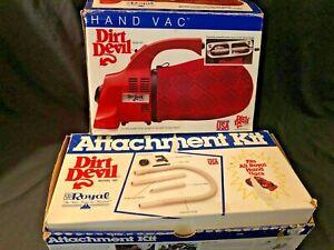 DIRT DEVIL Royal Hand Vac Model 103 Attachments Model 192 IOB
