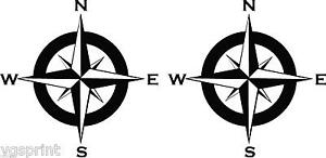 2 X 150mm COMPASS CARAVAN MOTORHOME DECALS STICKERS CHOICE OF COLOURS & SIZE