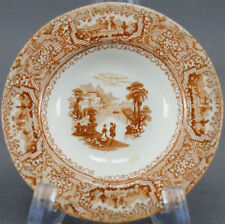 Wedgwood Columbia Pearlware Brown Transferware Toddy Plate Circa 1848