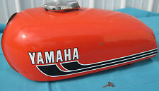 Vintage Yamaha RD 350 Parts Fuel Tank w/Locking Cap & Key Orange 1975 Good L0ok