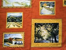 CLEARANCE FQ LANDSCAPE PAINTINGS PICTURES FRAMES WALL ART TREES FABRIC