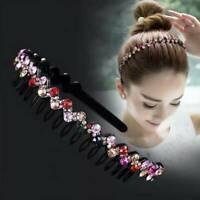 1pc Women Wave Headband Crystal Rhinestone Hair Hoop Wedding Party Hairband