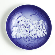 Bing & Grondahl 2015 Mother's Day Collector Plate, Mors Dag, Dalmatian & Puppies