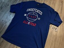Adidas x Undefeated Men 11 Kyrie Irving East All Star TEE TSHIRT Blue UNDFTD XL☕