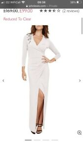 Damsel In A Dress John Lewis Samia Beaded Wrap Maxi Dress Size 14 Prom Wedding