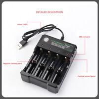 Universal Akku Ladegerät für 4x AA AAA LCD Batterie Schnelladegerät Charger