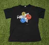 1983 Hall And Oates 2 Hot Tour Double Sided Black T-shirt Sz M Single Stitched