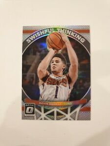 Devin Booker 2017/18 Donruss Optic Swishful Thinking - Holo Silver Prizm #3