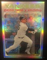 Gleyber Torres 2020 Topps Heritage THC-483 Chrome Refractor SP #/571 Yankees
